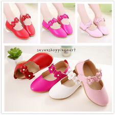 Cute Girls Flowers Dress Shoes Casual Flats Party Wedding Shoes New Size 5.5-2