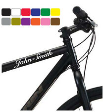 x3 PERSONALISED BIKE BICYCLE FRAME NAME STICKERS FOR CYCLE BMX RACING MOUNTAIN
