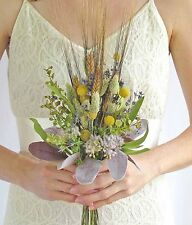 Dried Wedding Bouquet with Wheat & Billy Balls