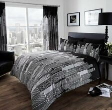 Modern SKY LINE Duvet Cover Set with Pillowcases - Single Double King Super King