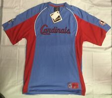 Men's Majestic St. Louis Cardinals Light Blue Cooperstown Cool Jersey