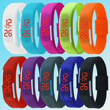 New Fashion Digital LED Touch Screen Sports Silicone Bracelet Wrist Watch Girft
