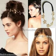 HAIR BAND HEADBAND OLIVES LEAVES TENDRILS CHAIN GOLD FOREHEAD JEWELRY 4