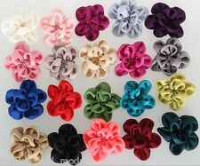HAIR FLOWER SATIN small 20 Colours Hair flower CORSAGE FABRIC FLOWER HAIR CLIP