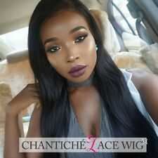 6A Indian Remy Human Hair Lace Front Wigs Long Straight Glueless Full Lace Wig