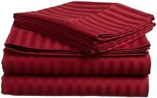 Sheet Set 4 PCS 1000 TC 100% Egyptian Cotton Stripe Queen Size Select Colors