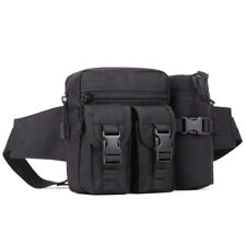 Utility Tactical Military Waist Bag Water Bottle Belt Fanny Pack Camping Hiking