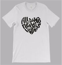 All we need is love t shirt peace hippy love music beatles  funny slogan street