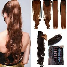 Clip In Ponytail Pony Tail Hair Extension Wrap On Hair Piece Wavy Barbie H820