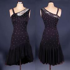Adult/child Black Latin salsa Cha cha tango Ballroom Paste Dance Dress dancewear
