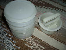 Set of 6 Tupperware Hamburger Keeper Containers with Press & Mold