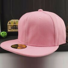 Men's Plain Hiphop Baseball Cap Solid Snapback Hats Vintage Kpop Adjustable