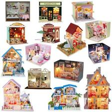 Wooden Dolls House Miniatures DIY Project Pub Bar House Kit w Light Accessories
