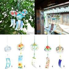 Wind Chime Wind Bell with Hand-Painted Japanese style pattern Hanging Ornament