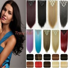 100% Natural as human Hair Full Head Clip In Hair Extensions Synthetic Hair H822