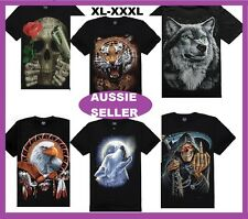 T Shirt Men's 3D Cotton Reaper Skull Tiger Wolf Eagle Unisex Short Sleeve 3 size