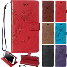 Flower Pattern PU Leather Wallet Card Shockproop Case Cover For iPod touch 5 6