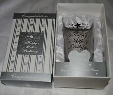 Adult Birthday Party Special Gift - 40th White Boxed Pint Glass