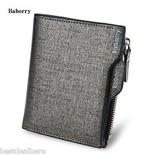 Baborry Stylish Men Business Wallet with Detachable Card Photo Holder
