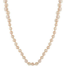 Pearl necklace with plastic beads and sterling silver clasp.NSR-291