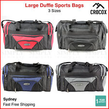 Sports Duffle Bag Canvas Gym Black Red Blue Grey Small Large Mens Womens Travel