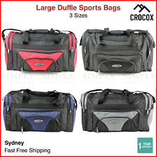 Sports Duffle Bag Canvas Duffel Gym Black Red Blue Grey Small Large Mens Travel