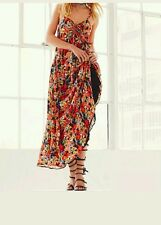 New $128 FREE PEOPLE Black/Red Floral Mulberry Maxi Dress VARIOUS SIZES