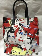 NWT Marc by Marc Jacobs Red Blue White Scream Queen Printed Nylon Shoulder Bag
