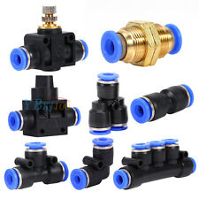 Assorted Pneumatic Push In Fittings Air Water Hose Tube Pipe Connector Joiner