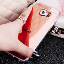 Ultra-thin Soft Silicone TPU Mirror Case Cover Shell For Samsung Galaxy Phones