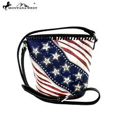 Montana West Handbag USA Patriotic American Pride Stars Messenger Bag Purse