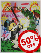 Golf Hack [60x80] ALEC Monopoly Modern Graffiti street urban art Giclee canvas