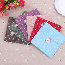 Girl Women Sanitary Napkin Towel Pads Polka Dot Small Bag Purse Holder Organizer