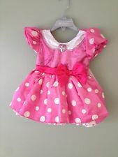 NWT DISNEY STORE Pink MINNIE MOUSE Costume Dress 12 18 24mo Dress Up