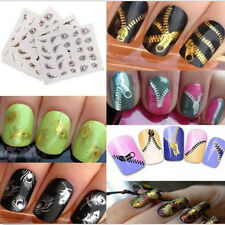 Gold Silver Nail Art Tips Stickers Decal Wraps Acrylic Manicure Decorations h