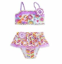 NWT Disney Store Princess Rapunzel Tangled Deluxe Swimsuit Girls 5/6 7/8 9/10