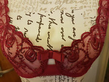 bnwt Passionata lace bra in a lovely rasberry colour in a 32D cup