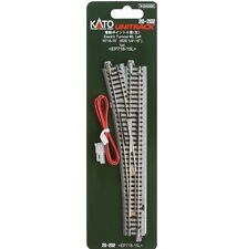 KATO N SCALE UNITRACK #6 LEFT HAND ELECTRIC TURNOUT 20-202