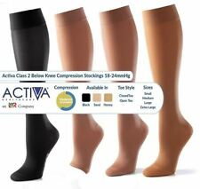 Activa Class 2 Below Knee Compression Stockings 18-24mmHg - Open & Closed Toe