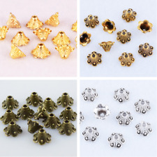 3 Color Bead Caps Brass Bronze Silver Spacer Flower End Bead Jewelry Finding 8mm