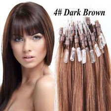 "18""20""22"" Dark Brown Loop Micro natural Human Hair Extensions Extentions Hot"