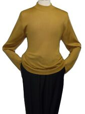 Mens INSERCH Mock Neck Pullover Knit Sweater High Collar Dress Casual 43112 Gold