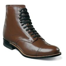 Stacy Adams Mens Brown Madison Ankle Boot Biscuit Cap Toe Extra Wide 00015-02 EE