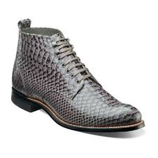 Stacy Adams Mens Madison Ankle Boot High Toe Anaconda print Leather 00057 Gray