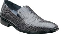 New Stacy adams Mens shoes GALINDO Gray crocodile print leather loafer 24996-020