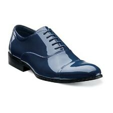 Stacy Adams Mens Tuxedo shoes Gala Shinny Navy Blue  Patent Leather 24998-410