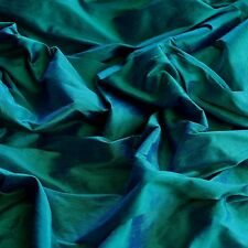 """Iridescent Peacock Dupioni 100% Silk Fabric, 44""""/54"""" Wide, By The Yard (S-141)"""