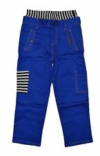 NEW HARAJUKU MINI BY GWEN STEFANI BOY'S STRIPED POCKETS PANTS IN SOLID BLUE
