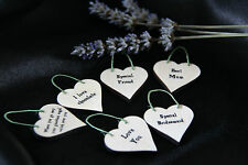 LITTLE HEART SIGN & GIFT TAG *YOUR OWN TEXT**PERSONALISED**BIRTHDAY*WEDDING*-