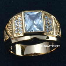 Size 8-15 Jewelry Women's AAA crystal  18KT Yellow Gold Filled Ring Gift r206